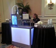 Liquid nitrogen gelato cart  catering a conference event