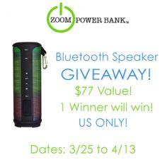 Giveaway for a diy speaker