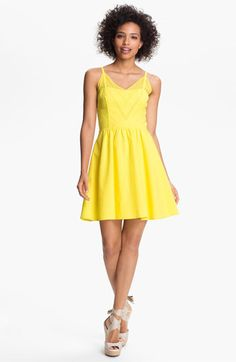Jessica Simpson V-Neck Fit & Flare Dress available at #Nordstrom