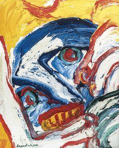 Bengt Lindström - Wild man. Oil on Canvas