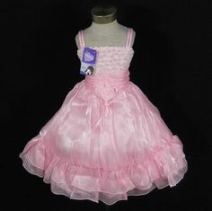 New Tag Wedding Flower Girl Pageant Dress SZ 4/4T