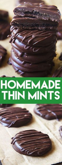 Save this recipe because you're going to want it when Girl Scout Cookie season is over! #cookie #chocolate #thinmint #mint #recipe #girlscoutcookie #copycat