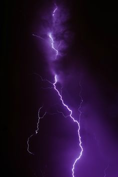 purple lightning - We saw a bolt of purple lightning during our last thunderstorm.