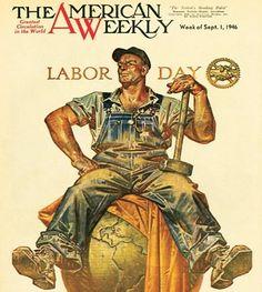 Labor Day. American Weekly Magazine, September 1, 1946 (J.C. Leyendecker)