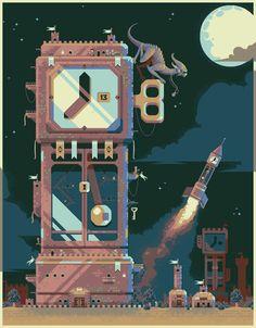 Title:Clockworld Pixel Artist:Mrmo Tarius