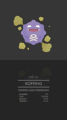 Koffing - ドガースNumber: CIXGeneration I BACK / NEXT   Thanks for viewing! Do you like my work? Let me know below!  WEAPONIX NETWORK