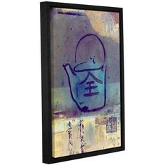 ArtWall Elena Ray Good Tea Gallery-Wrapped Floater-Framed Canvas, Size: 24 x 36, Blue