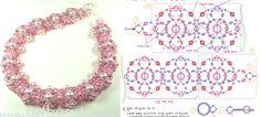 Scheme weaving Pink Necklace