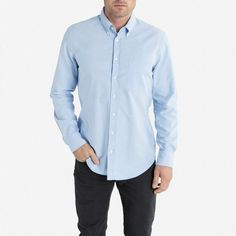 The Slim Fit Oxford - Light Blue - Everlane