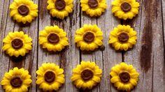 Edible Fondant SunflowersCake/Cupcake ToppersSet by KandyKoncepts, $8.00