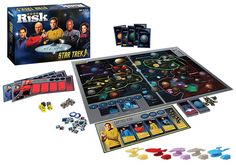 The Star Trek Anniversary Risk blows away all other versions of the game. Q has brought together Captains Kirk, Picard, Sisko, Janeway, and Archer to see Family Game Night, Family Games, Star Trek 2016, Definition Of Geek, Star Trek Party, Star Trek 50th Anniversary, Star Trek Captains, Daily Dot, Space Battles