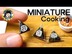 미니어쳐 진짜요리!! 삼각김밥 만들기 (뜯어보자+ㅁ+) Miniature Real cooking - Triangle gimbap - YouTube