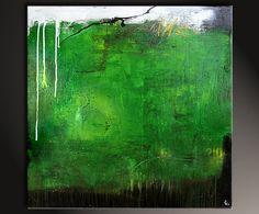 Gemäldetitel: Ab ins Grüne Künstler: Petra Klos Maße: 100 x 100 cm Material: feinste Künstleracrylfarben, Leinwand auf Holzkeilrahmen Stilvolles modernes Gemälde, signiert & datiert.
