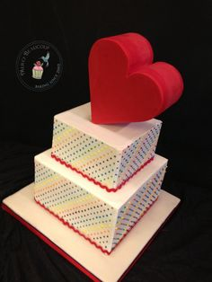 Rainbow Heart Cake by Reva Alexander-Hawk for Merci Beaucoup Cakes