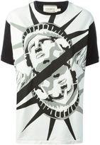 Farfetch | FAUSTO PUGLISI Statue of Liberty print T-shirt