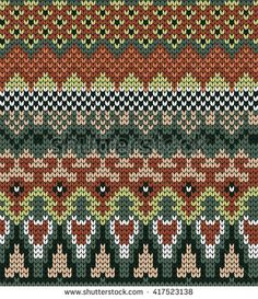 knitted varicolored seamless pattern