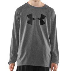 Boys' UA Big Logo Longsleeve T-Shirt Tops by « Clothing Impulse