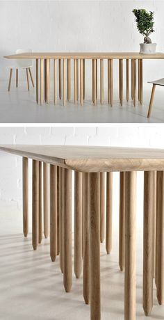 Rectangular wooden #table STILUS by Vitamin design #wood