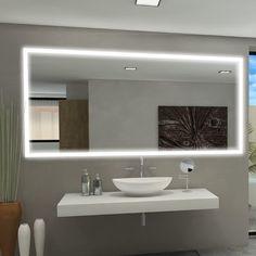 Paris Mirror Rectangle Backlit Bathroom / Vanity Wall Mirror