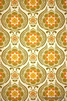 A unique collection of original 1950's to 1980's wallpapers for...