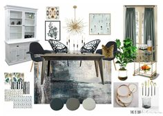 A Bold Graphic Glam Dining Room | Inspiration Board