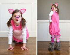 Little Pig Costume (with ears and snout) --- Make It and Love It