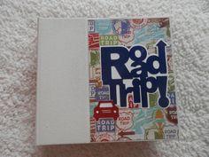 Road Trip Scrapbook. 6x6 Premade album by SimplyMemories on Etsy