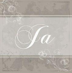 Tekst 'Ja' met witte bloemen en vlinder. Romantische trouwkaarten voor de mooiste dag van je leven! http://www.trouwpost.nl/trouwkaarten/romantisch