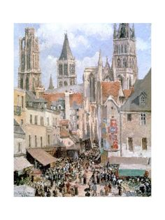 Levine and Walk Rouen,1898 Giclee Print by Camille Pissarro at Art.com