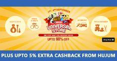 Get Upto 90% Off on Everyday Needs Plus Upto 5% Extra Cashback from Hujum on Every Purchase  #ShopcluesCoupons #ShopcluesCashback #OnlineShoppingDiscountCoupons
