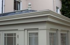 roofline classical orangery panted in Farrow and Ball French Grey | Westbury