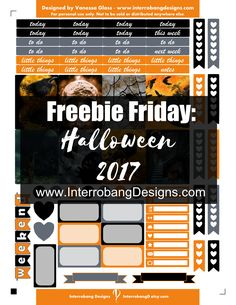 Free Printable Halloween Planner Stickers from Interrobang Design {on Facebook}