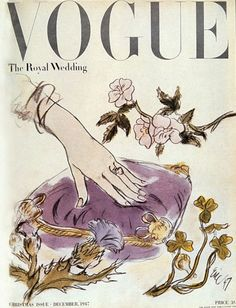 Vintage Vogue cover: The Royal Wedding #1940s