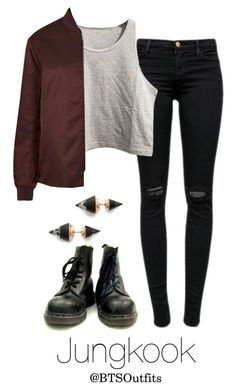 """""""Concert with Jungkook"""" by btsoutfits ❤ liked on Polyvore featuring J Brand, Vita Fede and Acne Studios"""