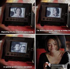Vampire Diaries. Bonnie and Damon. 6x13