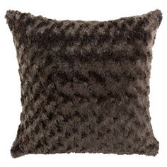 Plush chocolate brown pillow, the perfect companion to a mug of hot cocoa and your latest book club read.  Originally $81 - on sale for $25.95