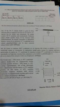 Termodinamik -2 Final Soruları -2017
