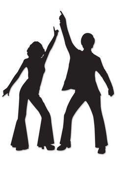 Set of 2 Disco Dancer Silhouette Cutout Decorations. Buy all the best Disco party supplies at Discount Party Supplies. Disco Theme Parties, Disco Birthday Party, Party Themes, Party Ideas, Dance Parties, Disco Party Decorations, Dance Decorations, Dancing Couple Silhouette, Disco Cake