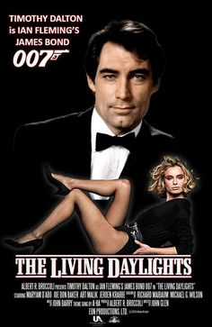 *m. Timothy Dalton is James Bond in The Living Daylights. Collage by jackiejr #JamesBondIsAll