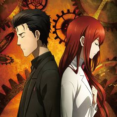"""""""World-Line"""" is her first song for the Steins; available to Crunchyroll members. The song has been used as the second ED them. Troll, Steins Gate 0, Kurisu Makise, Best Anime Couples, Best Waifu, Tsundere, Anime Ships, Magical Girl, Anime Characters"""