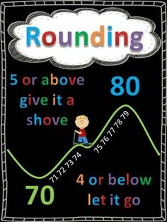 Math, Numbers, Mental Math Printables, Posters Use these anchor charts to help your students remember the steps to round numbers. Rounding Anchor Chart, Math Anchor Charts, Rounding Numbers, Math Numbers, Math Round, Math Charts, Fifth Grade Math, Grade 3, Math Poster