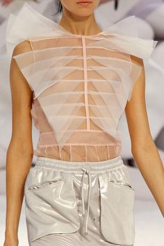 Chanel Spring 12 organza origami top