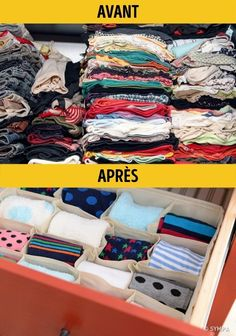 18 Ideas para organizar tu VirgoCasa o tu VirgoCueva Clothes Organisation Ideas, Closet Organization, Ideas Para Organizar Ropa, Organizar Closets, Acrylic Containers, Lampe Retro, Fabric Drawers, Buy Fabric, Craft Storage