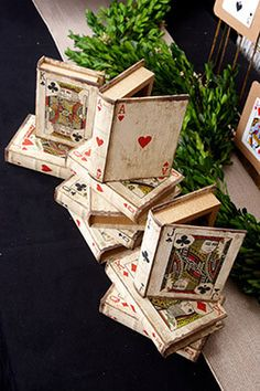 Playing Card Boxes (Set of x 5 Could be used as a table number and decor. Playing Card Book Boxes (Set of be used as a table number and decor. Playing Card Book Boxes (Set of Playing Card Crafts, Playing Card Box, Vintage Playing Cards, Playing Cards Art, Book Crafts, Paper Crafts, Diy Crafts, Cigar Box Crafts, Cigar Box Projects