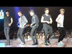 One Direction dancing to the macarena in Barcelona! This is so great because all the Spanish fans even know the words to the song haha!!! :D