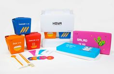 HOYA (Student Project) on Packaging of the World. Colorful takeout #packaging PD