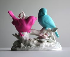 Chad Wys has inspired me. I have all my grandmother's country bird figurines. I think painting them is a great idea!