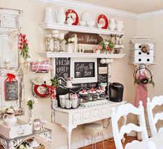 Adorable coffee station.