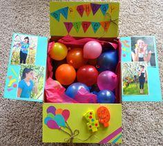 Birthday Packages Diy Cadeau Fun Surprise Box Balloon