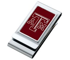 Texas A&M University AGGIES ** NCAA College Football ** Stainless Steel Double Money Clip ** Credit Card ID Holder ** Name Custom Engraved would be a great gift to your Aggie groomsmen on your wedding day!  Follow thehowdyweddingguide on Instagran for more Aggie wedding shares! Ncaa College Football, Id Holder, On Your Wedding Day, Couple Gifts, Custom Engraving, Money Clip, Great Gifts, University, Groomsmen